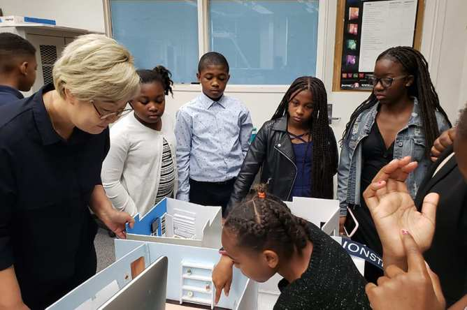 blue - Design Entrepreneurship Class Renovates Inner City Youth Center