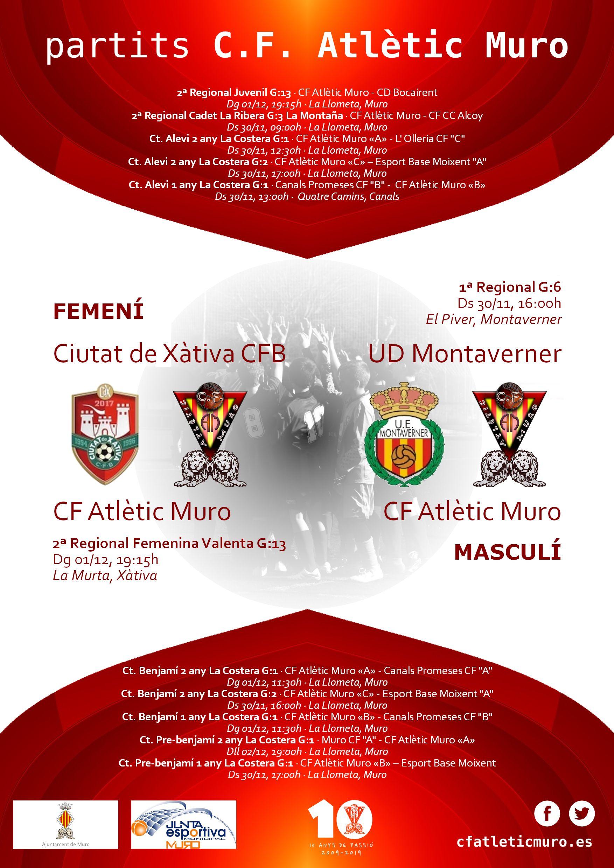 You are currently viewing Partits davant el Ciutat de Xàtiva CFB i l'UD Montaverner