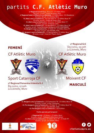 Read more about the article Partits davant l'Sport Catarroja CF i el Moixent CF