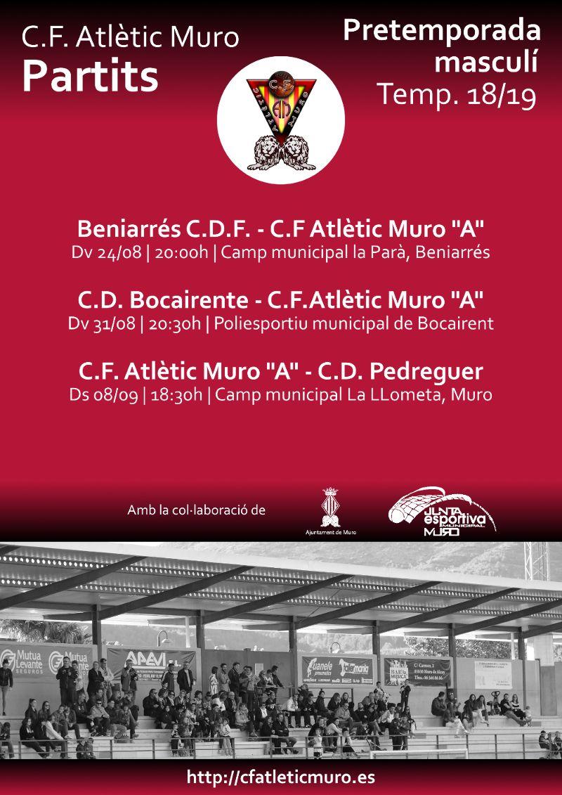 Read more about the article Partits de pretemporada de l'equip masculí