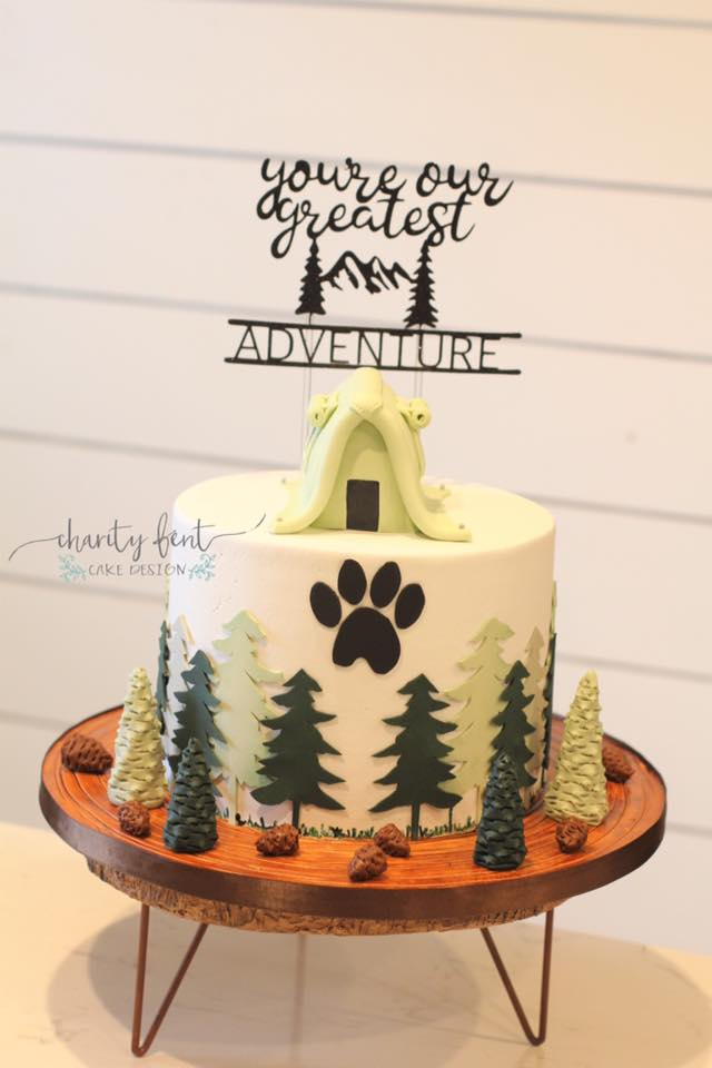 Rustic Baby Shower Cakes : rustic, shower, cakes, Rustic, Shower, Charity, Design