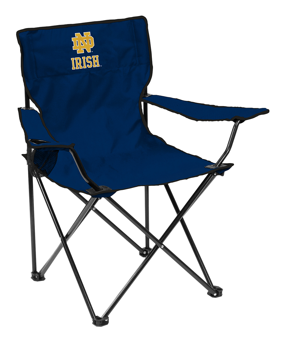 Collapsible Chair Logo Chair Inc Navy Notre Dame Collapsible Chair