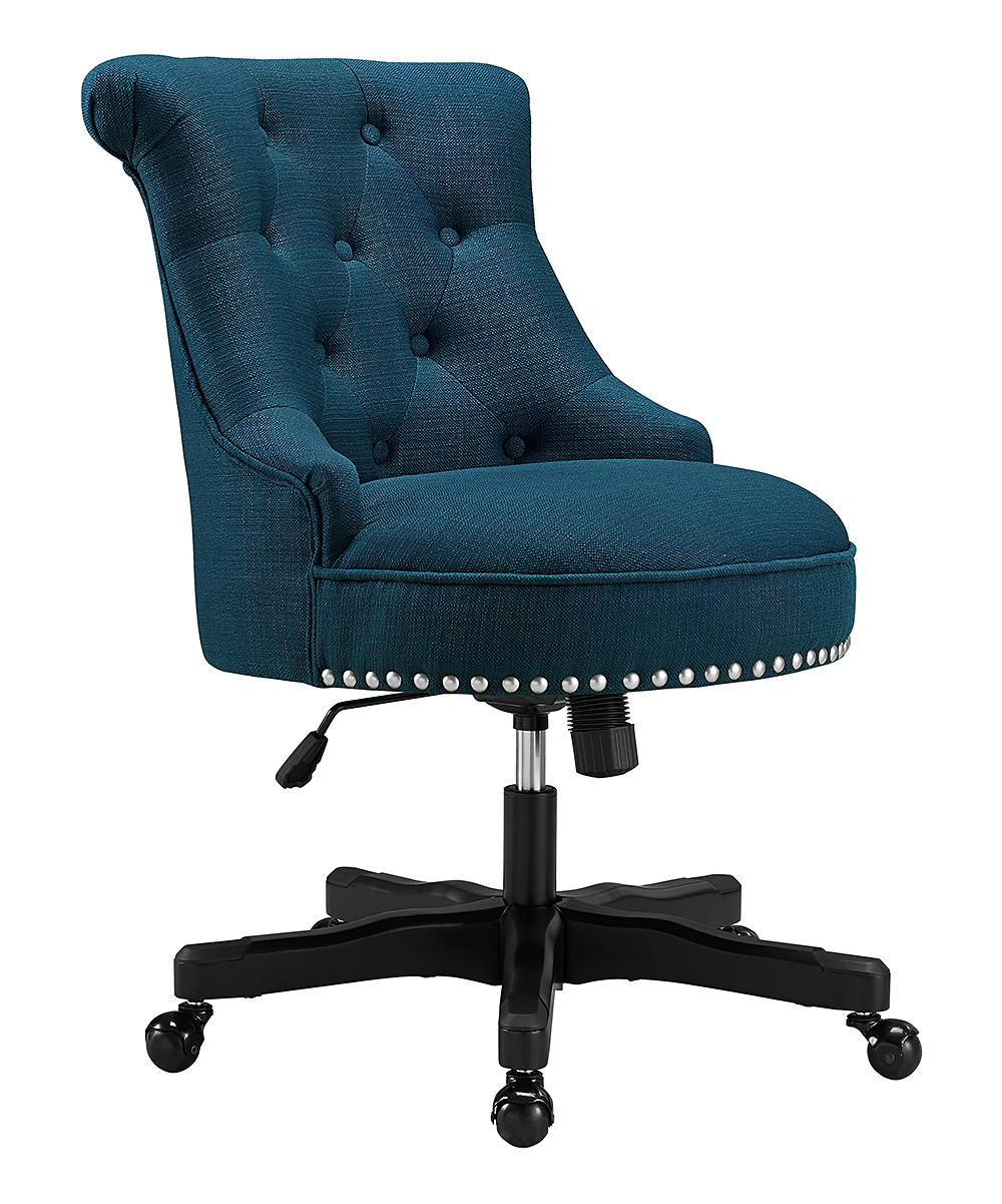 medium resolution of love this product blue tufted sinclair office chair