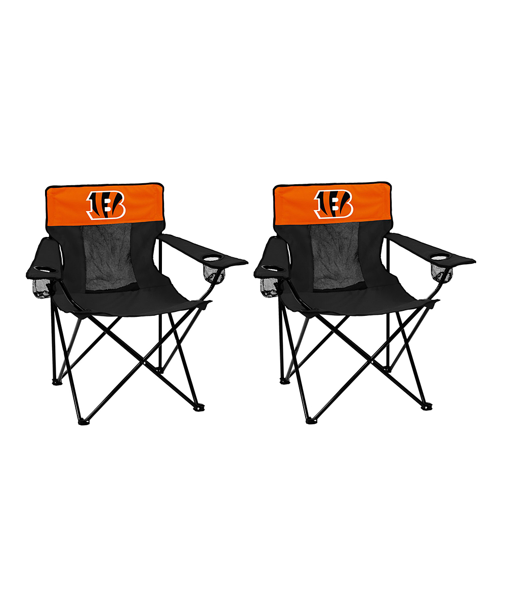 Basketball Chairs Logo Brands Cincinnati Bengals Elite Chair Set Of Two