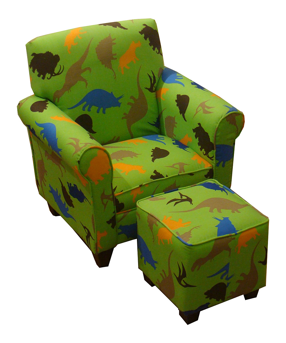 kids chair with ottoman hydraulic accessories littlebluelamb green dinosaur zulily love this product