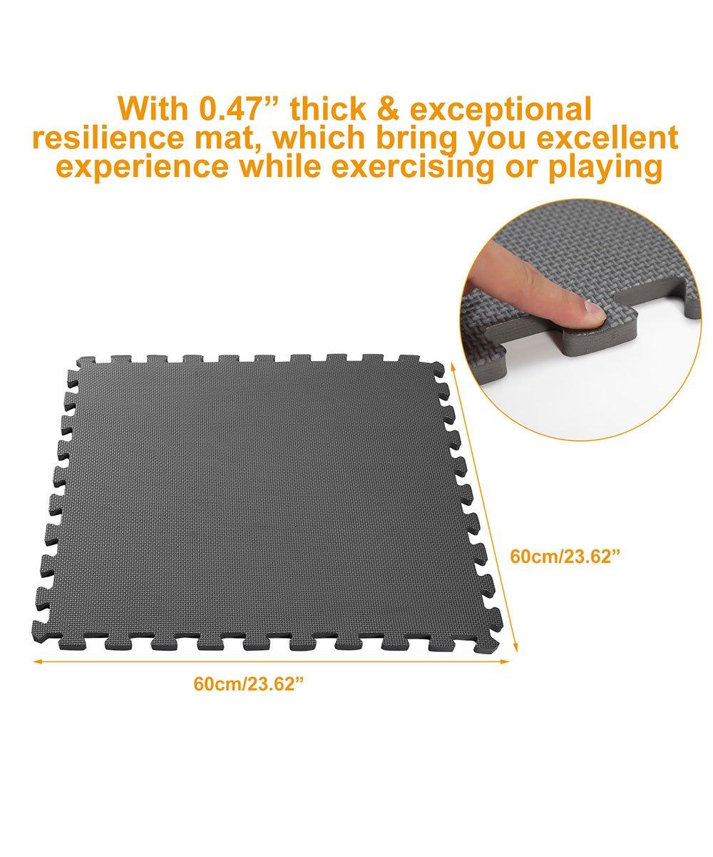 iMounTEK Black Interlocking Exercise Foam Mat   Best Price and Reviews   Zulily