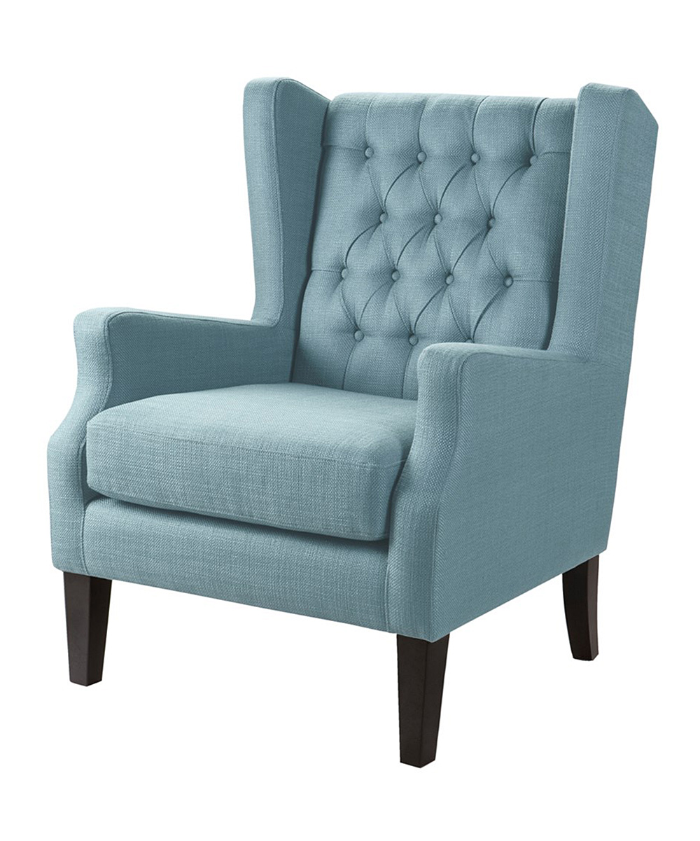 Teal Wingback Chair Main Green Blue Tufted Wingback Chair