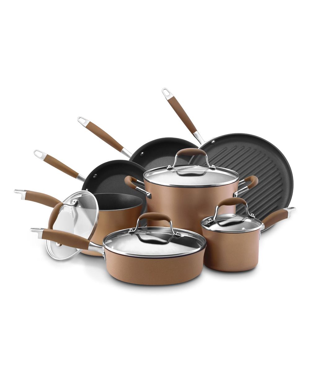 Anolon Cookware Sets Brown - Bronze Advanced Hard-Anodized Nonstick 11-Piece Cookware Set