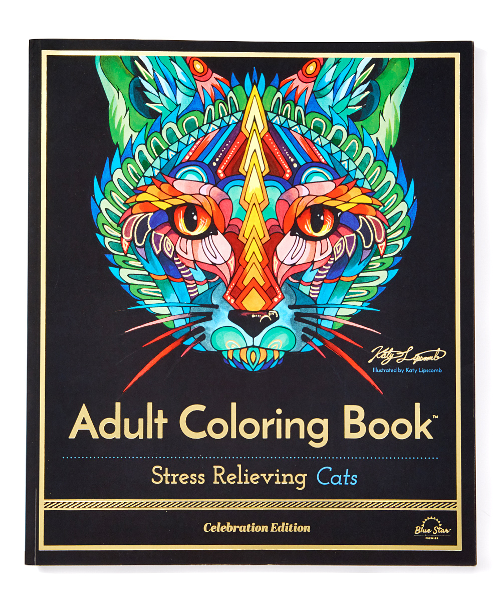 blue star coloring stress