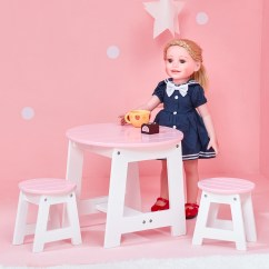 18 Doll Table And Chairs Aeron Chair Height Adjustment Not Working Olivias Little World Princess Outdoor Set For Share