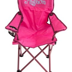 Neon Pink Chair Blue Velvet Tufted Dining Kids Chairs Zulily Three Ps In A Pod Personalized Folding