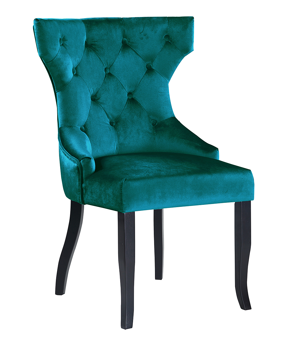 Teal Wingback Chair Teal Jove Wingback Chair Set Of Two