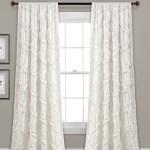 White Diamond Ruffle Curtain Panel Set Of Two Zulily