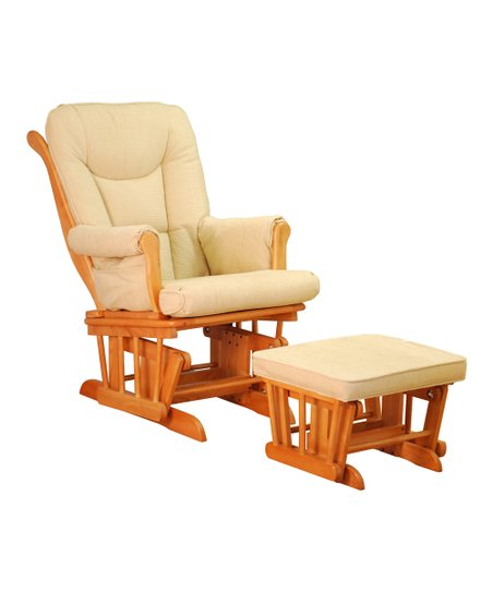 glider chair ottoman cheap vinyl covers afg baby furniture pecan deluxe zulily love this product