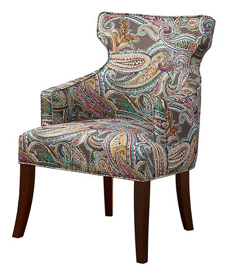 brown accent chairs keilhauer gym chair main green orange paisley zulily