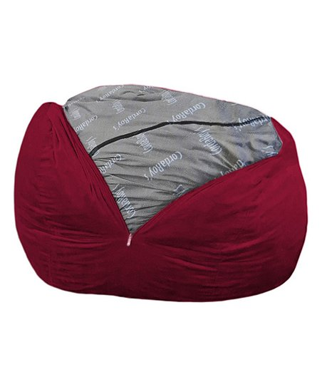 corduroy bean bag chair barcelona knoll cordaroys wine beanbag sleeper zulily