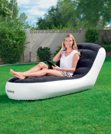 inflatable lawn chair glitter stretch covers for sale bestway chaise lounge zulily