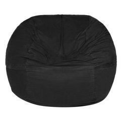 Giant Bean Bag Chair Kohl Lounge Met Voetenbank Black Jaxx 5 Zulily