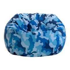 Blue Bean Bag Chairs Hanging Chair Groupon Jordan Manufacturing Camouflage Junior Zulily