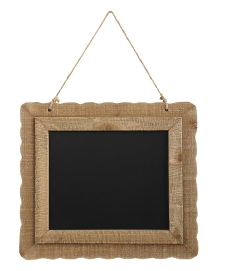 wood frame chalkboard