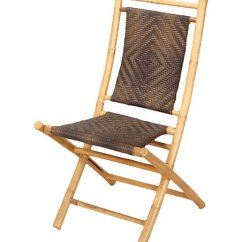 Bamboo Folding Chair Patio Chairs With Footrests Heather Ann Brown Natural Halawa Zulily
