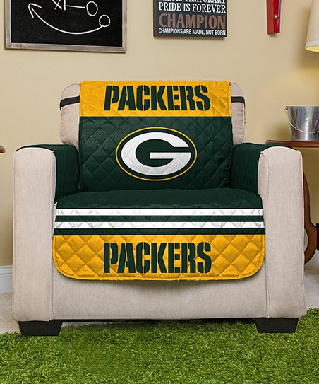 green bay packers chair metal leather pegasus sports reversible protector zulily