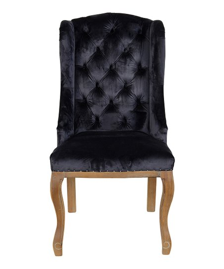 navy blue wingback chairs patio with ottoman kosas home rochelle chair zulily