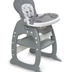 High Chair Converts To Table And Living Room Cover Gray Chevron Envee Ii Baby Play Conversion Zulily