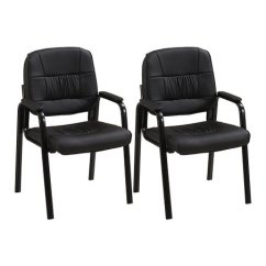 Office Side Chairs Modern Leather Accent Porthos Home Guest Reception Padded Chair Set Of Two Love This Product