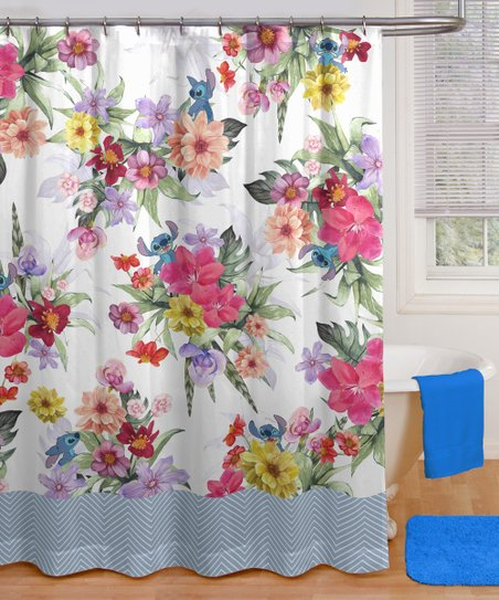 jay franco and sons lilo and stitch paradise garden shower curtain