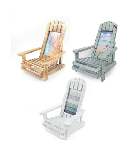 wooden frame beach chairs big mans camping chair driftwood set of three zulily love this product