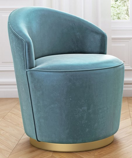 green velvet swivel chair stool for standing desk zuo zoey arm zulily
