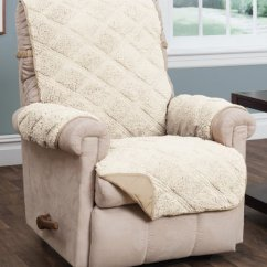 Waterproof Chair Covers For Recliners Carp With Accessories Jeffrey Home Ivory Sherpa Reversible Recliner Cover Zulily