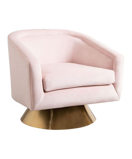 pink swivel chair recliner and a half velvet zulily