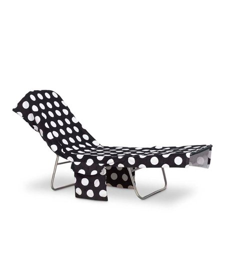 white lounge chair covers barbie bean bag black polka dot cover zulily love this product