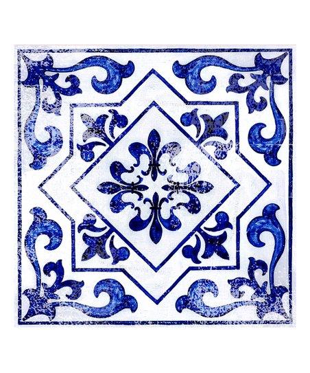flooradorn light blue moroccan 6 pack self adhesive vinyl floor tile