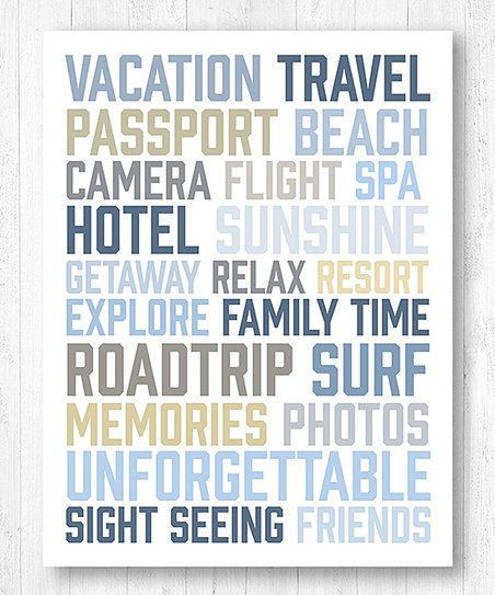Printed Marketplace White Vacation Words Canvas Wall Art Best Price And Reviews Zulily