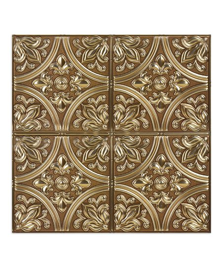 brewster home fashions chelsea bronze peel stick tin tile set of four