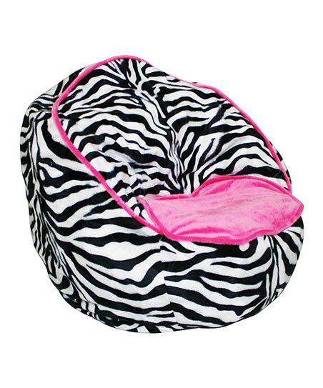 zebra print bean bag chair lowes outdoor rocking newco pink beanbag zulily