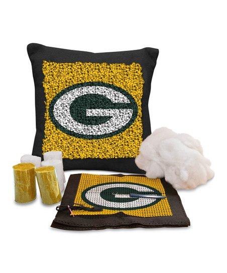 green bay packers latch hook pillow kit