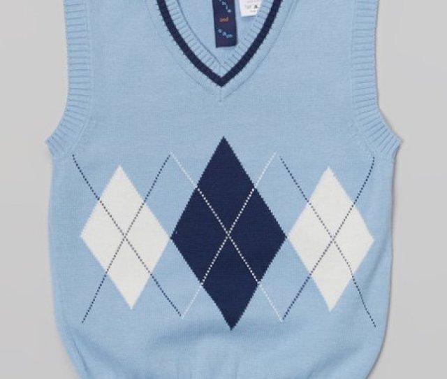 Light Blue Argyle Sweater Vest Infant Toddler Boys