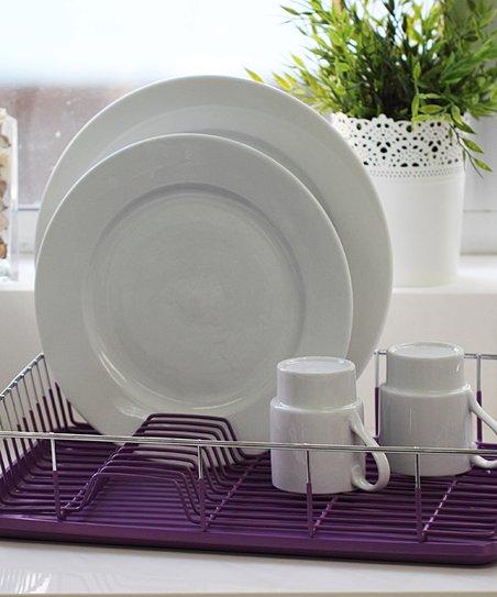 vanderbilt home purple dish drainer set