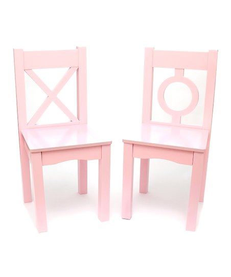 kids chair set chemotherapy chairs for infusion lipper international light pink of two zulily