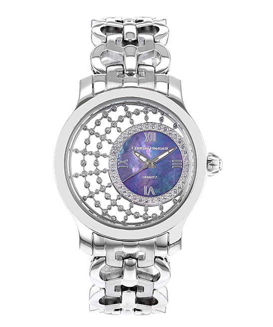 Christian Van Sant Stainless Steel & Purple Mother-of