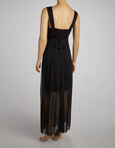 All gone also en focus studio black gathered semisheer maxi dress zulily rh