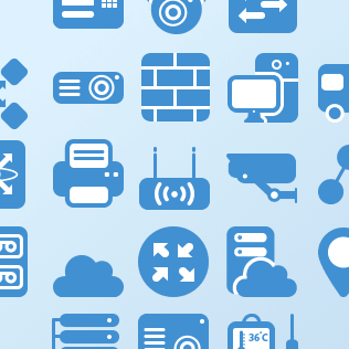 flat network icons for