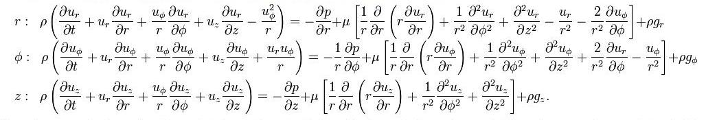 Navier Spherical Stokes Equations Coordinates