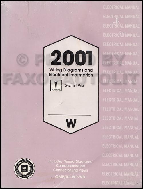 2001 pontiac grand prix repair wiring  electrical information diagrams  original