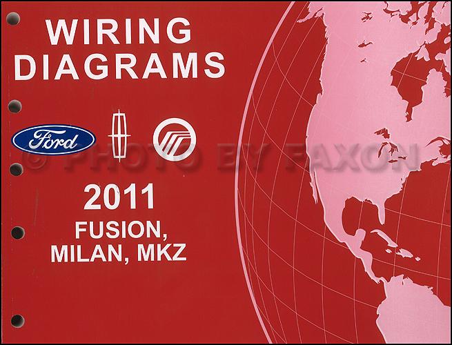 2011 ford fusion mercury milan lincoln mkz wiring diagram manual original  gasoline models