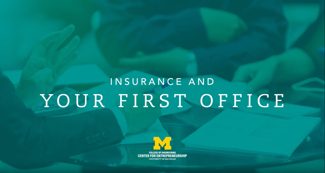 title card for insurance and your first office